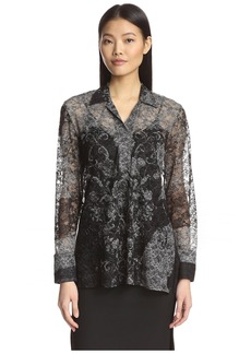 Natori Women's Plaid Mesh Tunic  S