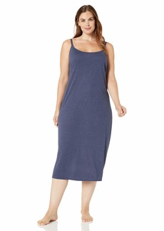 Natori Women's Plus Size Shangri-La Solid Knit Gown