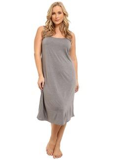 Natori Women's Plus Size Shangri-La Solid Knit Gown heather grey