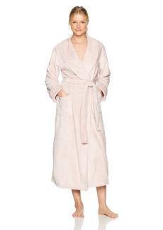 Natori Women's Plush with Satin Twill Robe