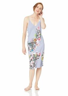 Natori Women's Printed Charmeuse Gown iris M