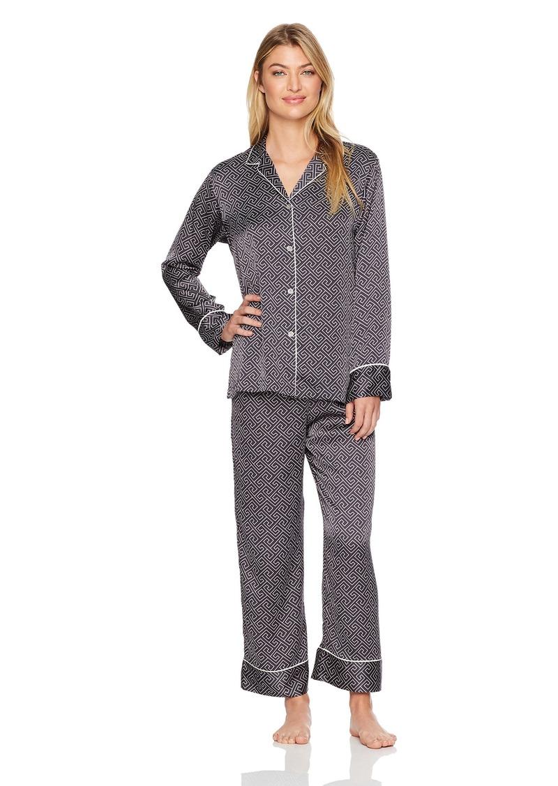 Natori Women's Printed Charmeuse Pajama Set  Extra Large