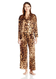 Natori Women's Printed Charmeuse Pajama Set  L