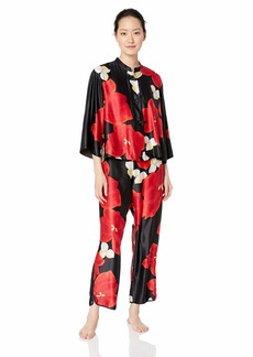 Natori Women's Printed Charmeuse Pajama Set  XL