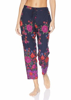 Natori Women's Printed Charmeuse Pant  S