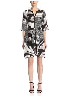 Natori Women's Self Tie Printed Dress   US