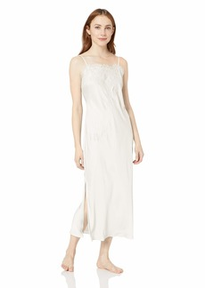 Natori Women's Satin Gown Warm White/Linen XS
