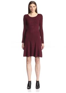 Natori Women's Textured Fit & Flare Dress  L