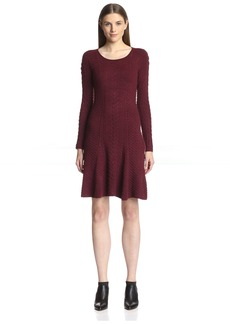 Natori Women's Textured Fit & Flare Dress  M