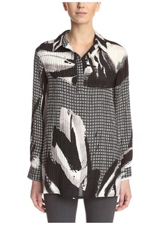 Natori Women's V Neck Printed Tunic  XS