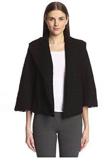 Natori Women's Wool Shawl Collar Jacket  L