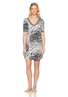 Natori Women's Zebra Feathers Sleepshirt