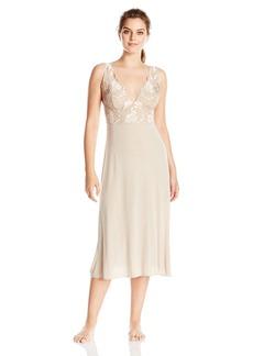 Natori Women's Zen Floral Nightgown Beige
