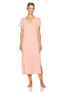 Natori Women's Zen Floral Short Sleeve Gown