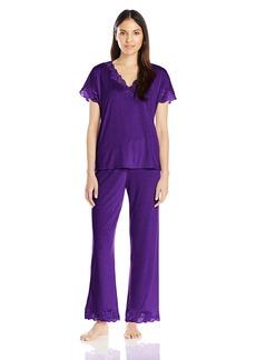 Natori Women's ZEN Floral Short Sleeve Pajama Set  S