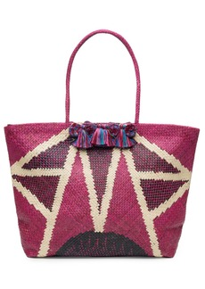 Natori Woven Handbag With Fringe