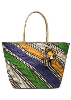 Natori Woven Handbag With Tassels