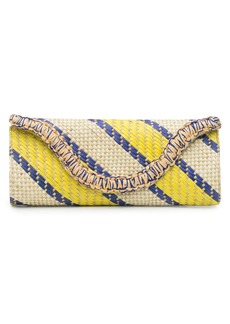 Natori Woven Striped Print Clutch