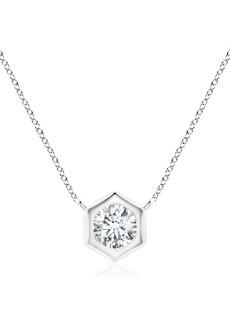 Natori Fine Jewelry Diamond Hexagonal Pendant Necklace