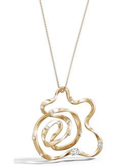 Natori Fine Jewelry Sakura Diamond Pendant Necklace