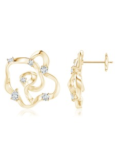 Natori Fine Jewelry Sakura Dispersed Diamond Earrings