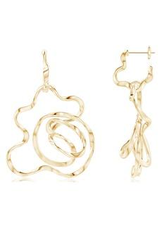 Natori Fine Jewelry Sakura Huggie Hoop Drop Earrings