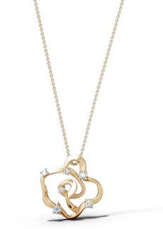 Natori Fine Jewelry Sakura Small Diamond Pendant Necklace