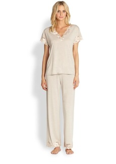 Natori Zen Floral Jersey Pajamas