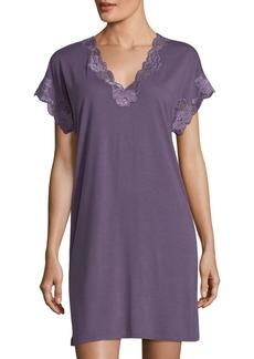 Natori Zen Floral-Lace Sleepshirt