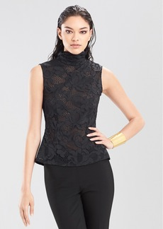 Novelty Lace Short Sleeve Top