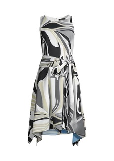 Natori Papillon Handkerchief Dress
