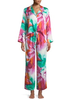 Natori Paraiso Notched-Collar Pajama Set