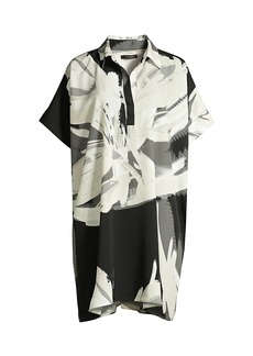 Natori Petal-Print Shirt Dress