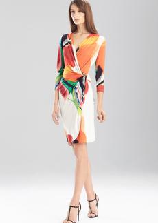 Printed Jersey Long Sleeve Dress