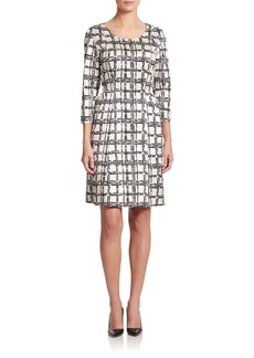 Natori Printed Side-Tie Dress
