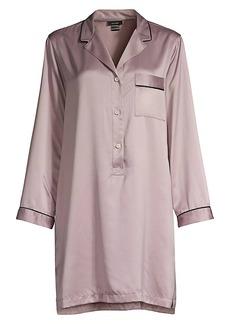 Natori Purple Dove Feathers Satin Sleepshirt