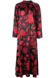 Natori rose print shirt dress