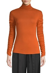 Natori Ruched-Sleeve Sweater