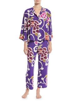 Natori Samarkand Classic Floral Pajama Set