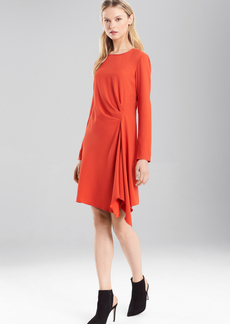 Satin Back Crepe Dress