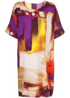 Natori short brushstroke print dress