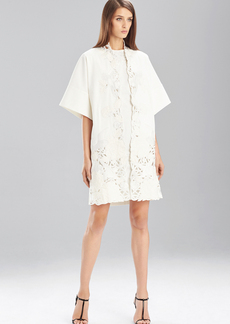 Natori Stretch Pique Jacket with Lace