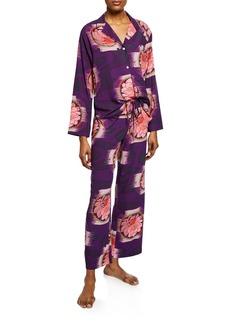 Natori Terra Floral-Print Pajama Set