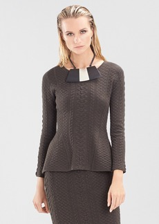 Textured Knit Jacquard Top
