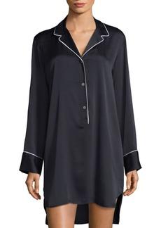 Natori Three-Buttoned Sleepshirt