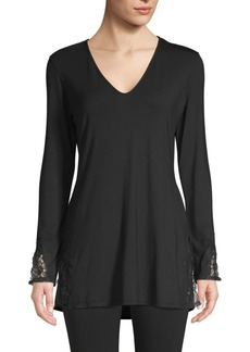 Natori V-Neck Cotton Sleepshirt