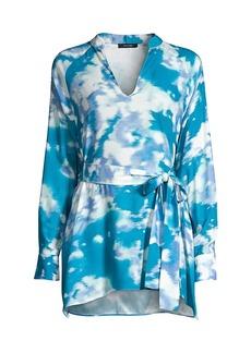 Natori Watercolor Mandarin Tunic