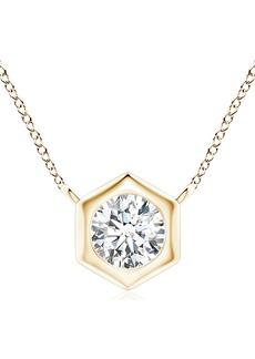 Women's Natori Fine Jewelry Diamond Hexagonal Pendant Necklace