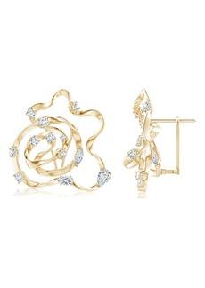 Women's Natori Fine Jewelry Sakura Diamond Earrings