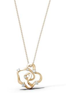 Women's Natori Fine Jewelry Sakura Small Diamond Pendant Necklace